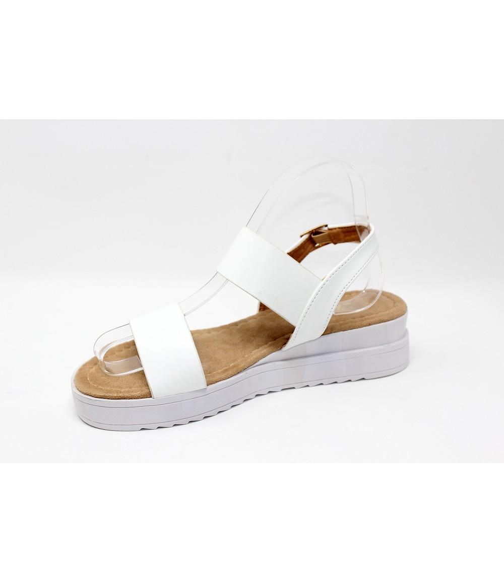 Shoe Lounge White Double Strap Sandal