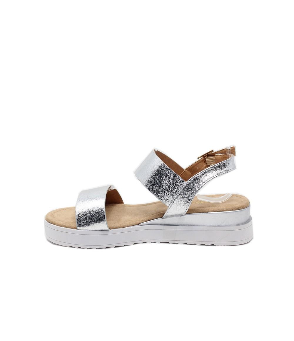 Shoe Lounge Silver Double Strap Sandal
