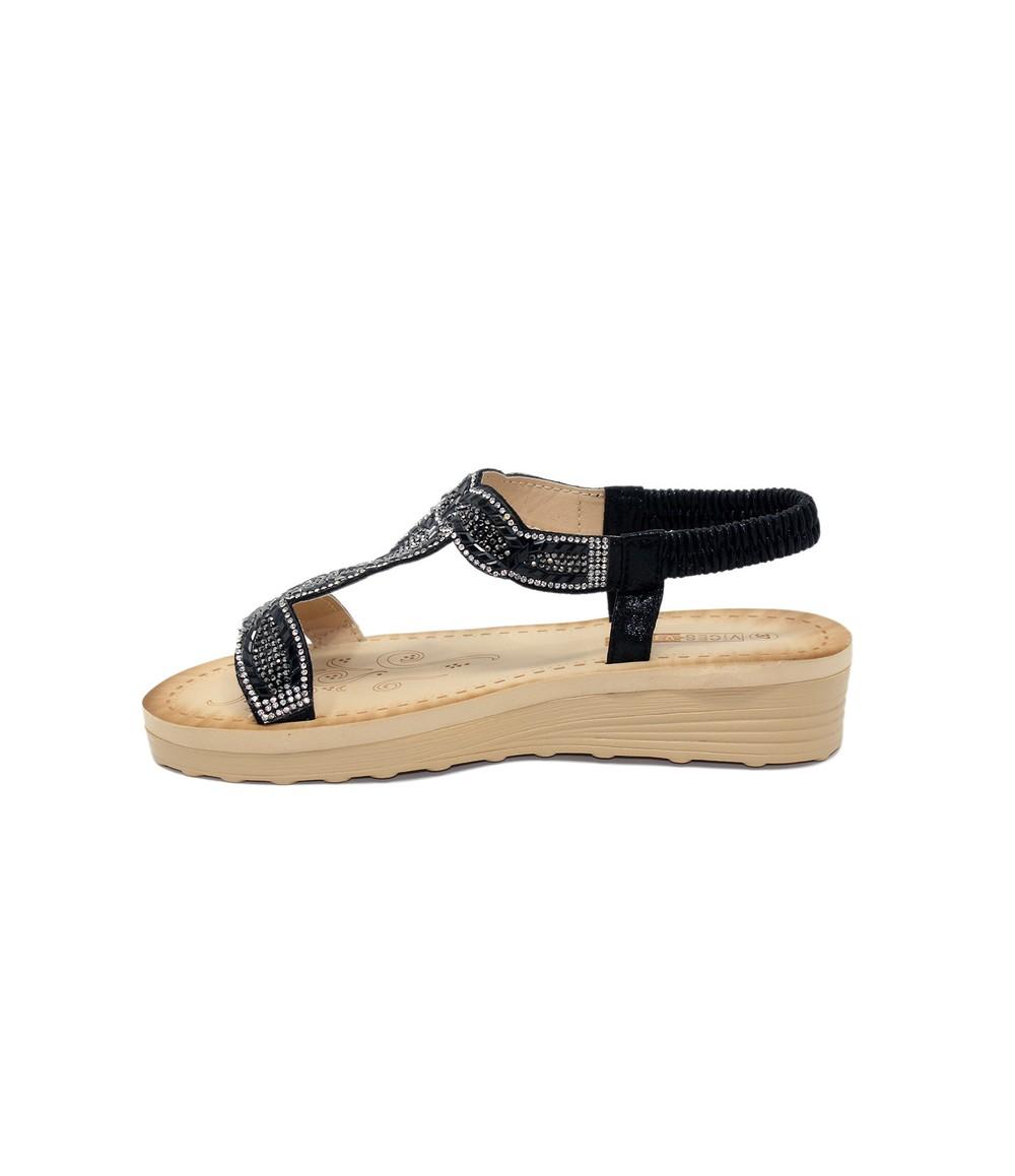 Shoe Lounge Black Diamante Glittered Sandal