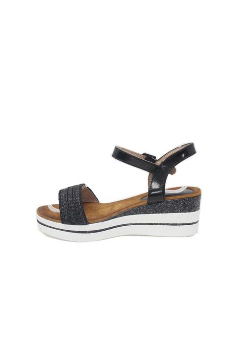 Shoe Lounge Black Wedge Sandal