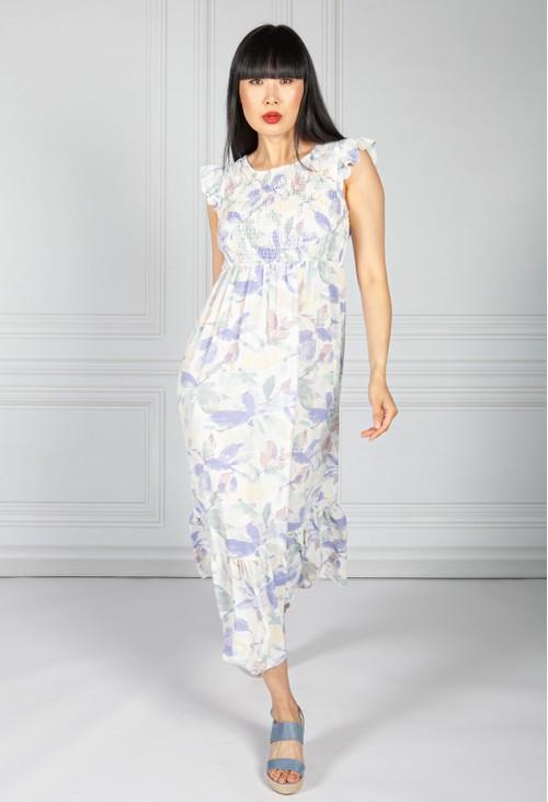 Pamela Scott Pretty in Pastel Smocking Bodice Dress