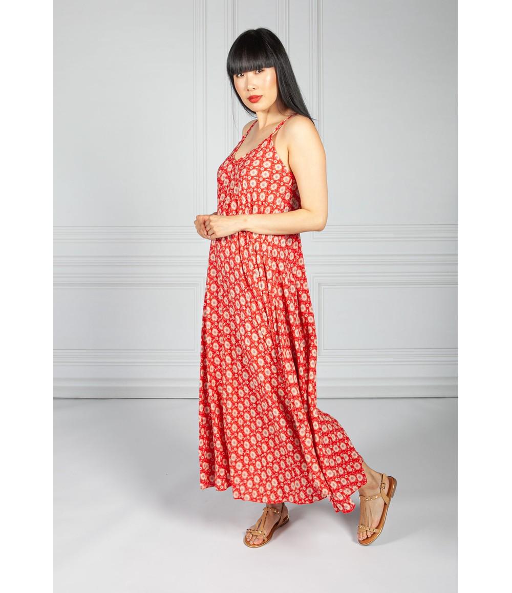 Pamela Scott Ruby Vintage Print Maxi Dress