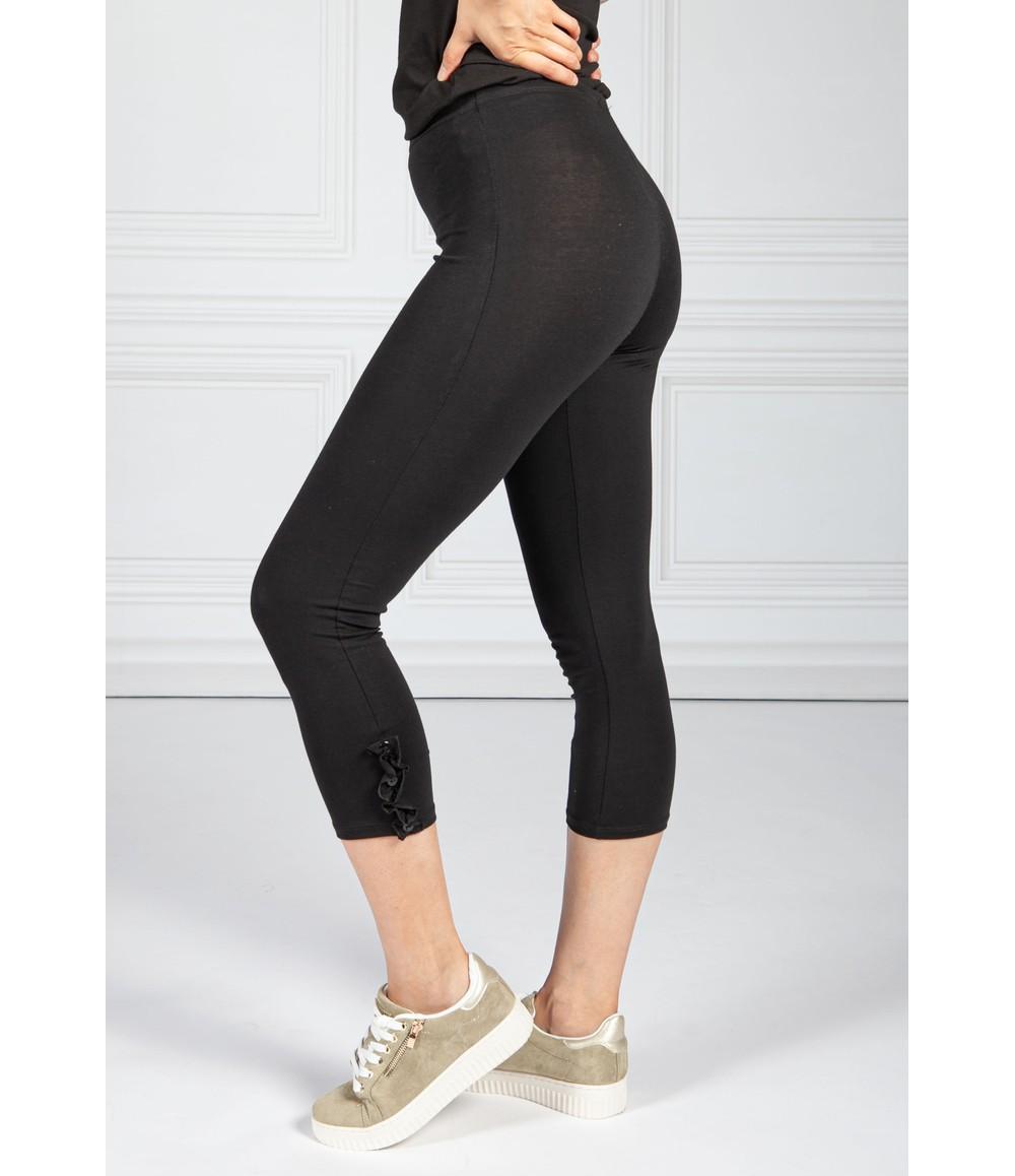 Sophie B Frill Detail Leggings in Black