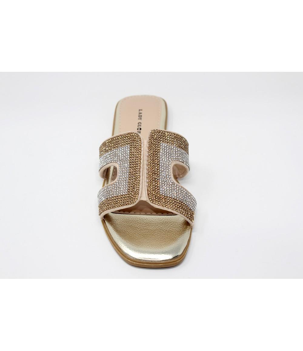 Shoe Lounge Gold Mule Slide