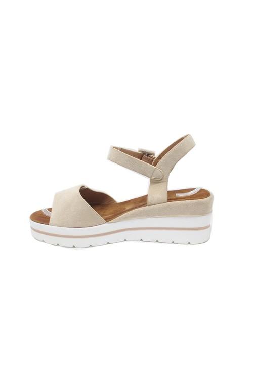 Shoe Lounge Beige Wedge Sandal
