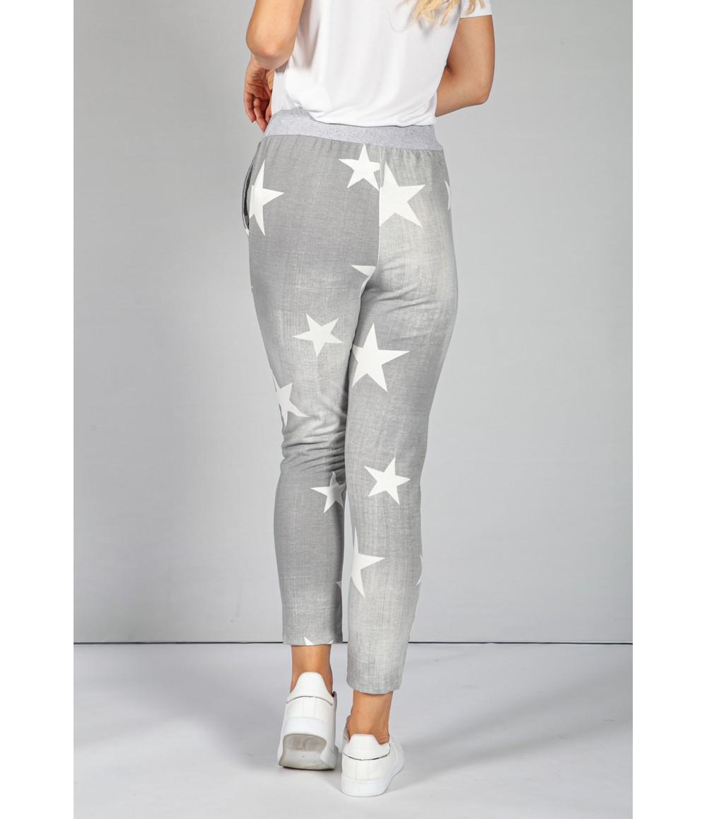 Zapara Light Grey Star Design Joggers