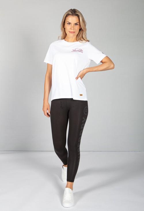 Superdry Glitter Sparkle T-Shirt in Optic White