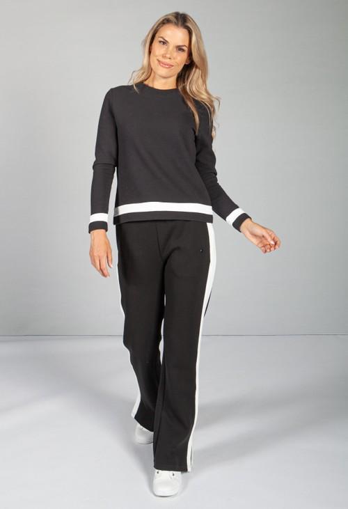 Calvin Klein Black Ribbed Sweatshirt