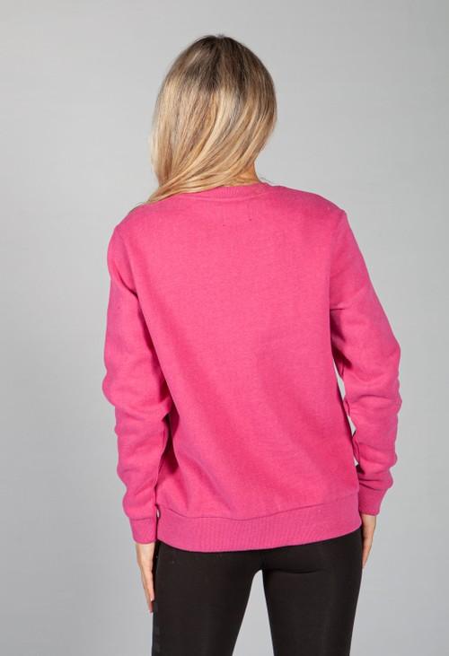 Superdry Orange Label Classic Sweatshirt in Magenta Marl