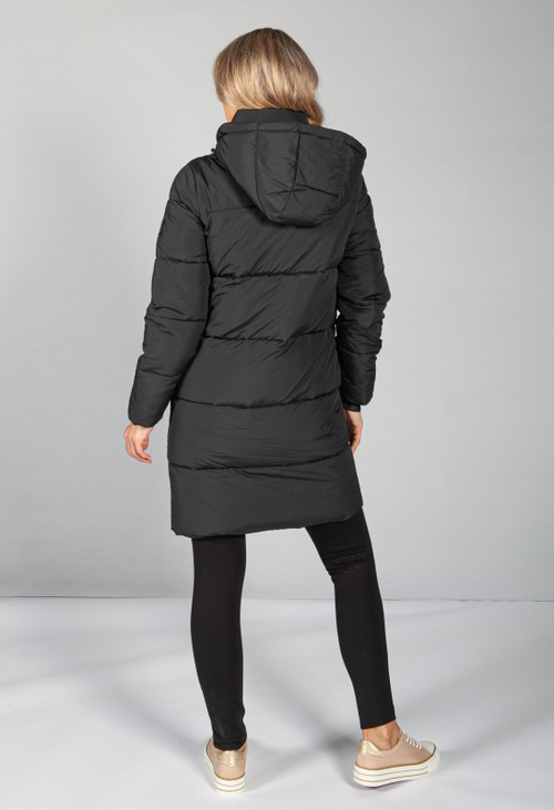 Calvin Klein RECYCLED POLYESTER PUFFER COAT IN BLACK