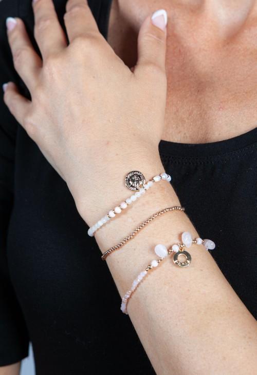 PS Accessories Light Pink Multi Beaded Bracelet