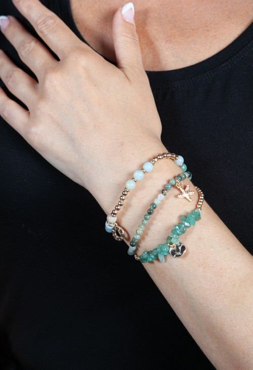 PS Accessories Jade Multi Beaded Bracelet