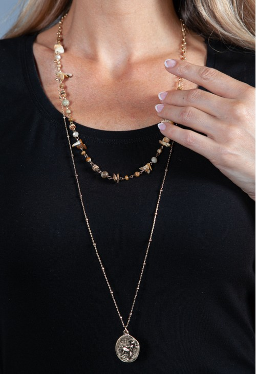 PS Accessories Pendant Layered Necklace