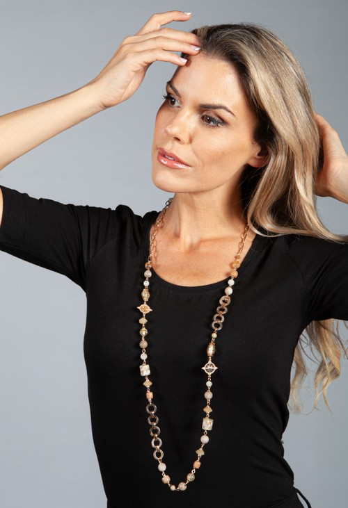 PS Accessories Charm Linked Necklace
