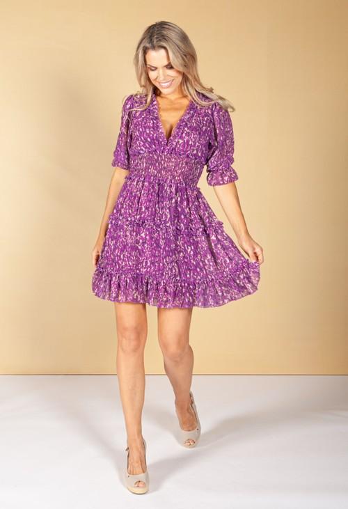 Emporium Royal Purple Ruffle Dress