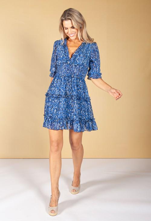 Emporium Royal Blue Ruffle Dress