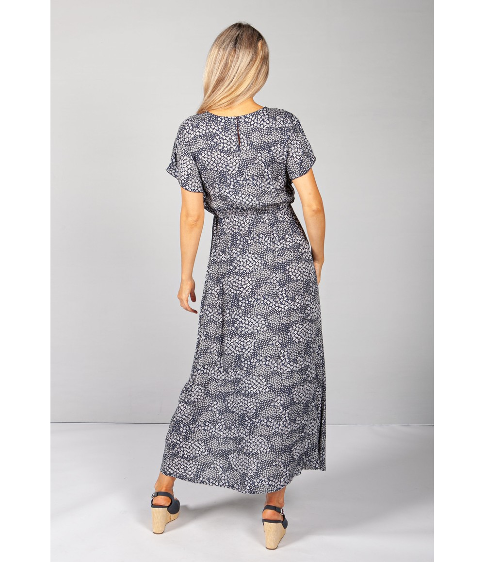 Pamela Scott Navy Floral Print Dress