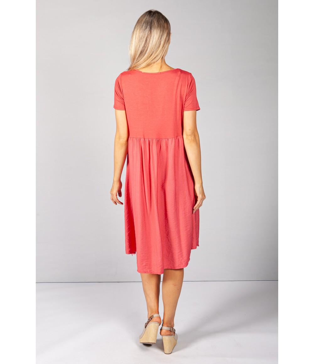 Pamela Scott Red Button Dress