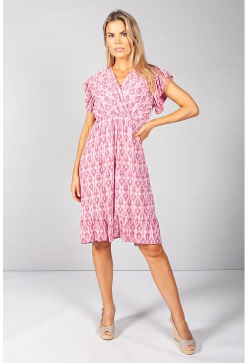 Pamela Scott Pretty in Pink Paisley Print Dress