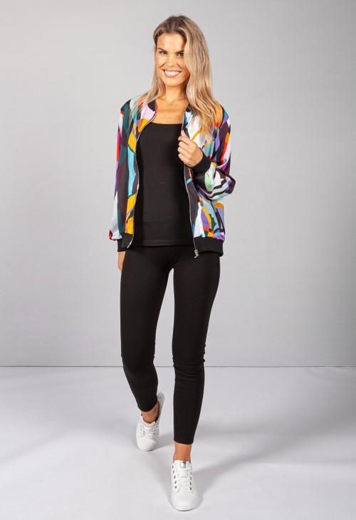Zapara 90's Abstract Print Jacket