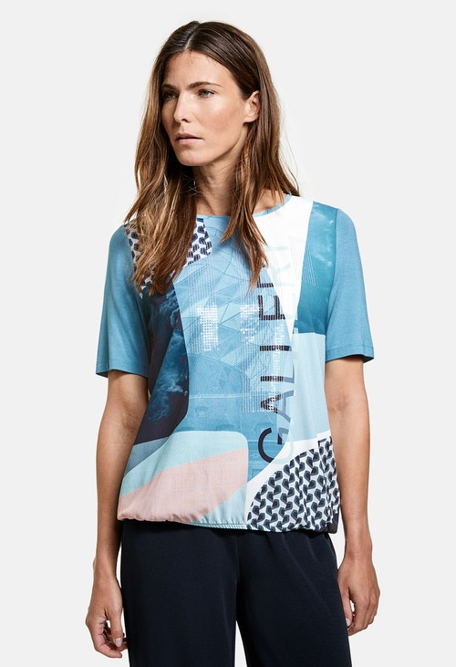 Gerry Weber EcoVero top with a panel print