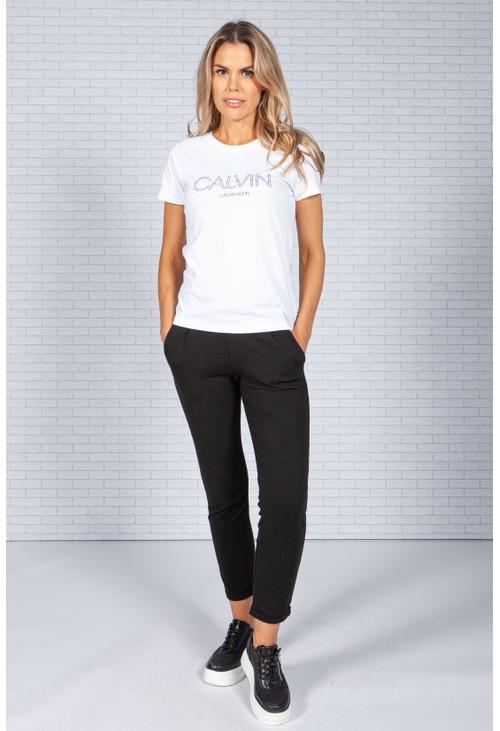 Calvin Klein Slim Fit Logo T-Shirt in White