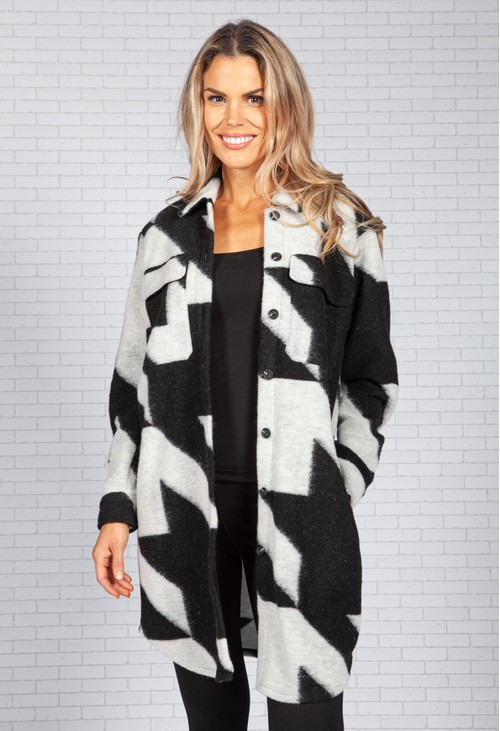 ERFO Hound's-tooth Patterned Coat