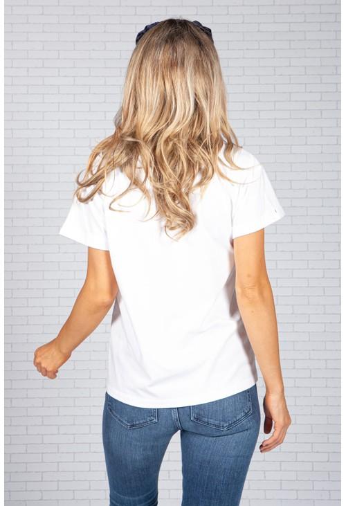Tommy Hilfiger White Logo Cotton T-Shirt