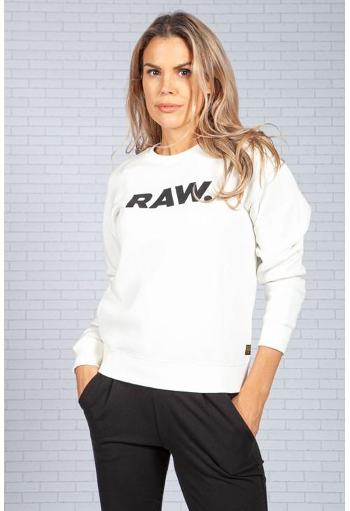 G-Star Raw White RAW Logo Sweatshirt