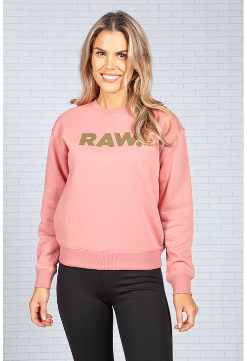 G-Star Raw Pink RAW Logo Sweatshirt
