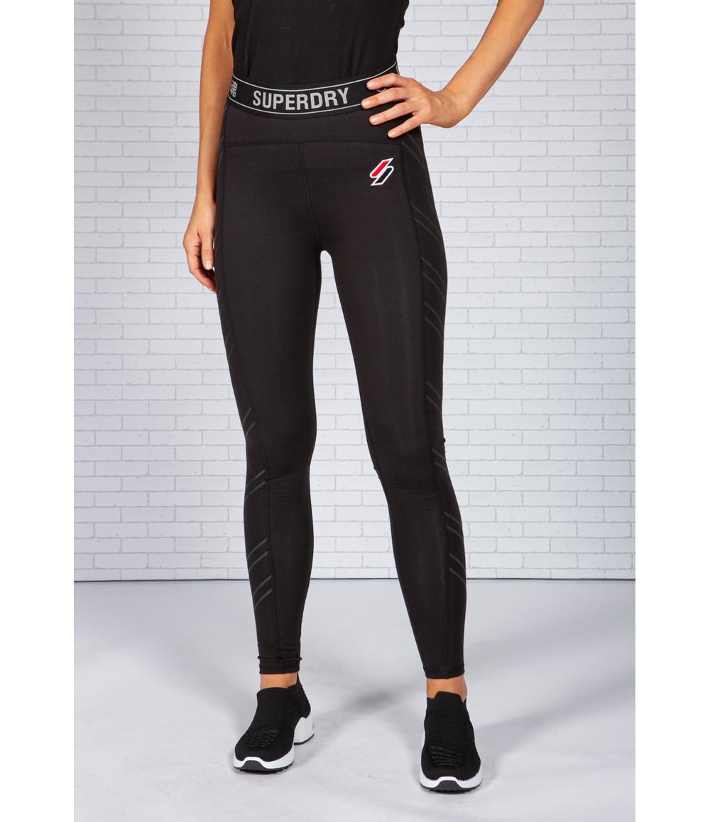 Superdry Sport Stripe Black Leggings