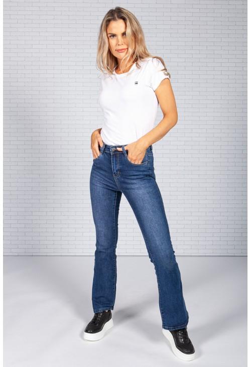 Pamela Scott Flared Dark Wash Denim Jeans