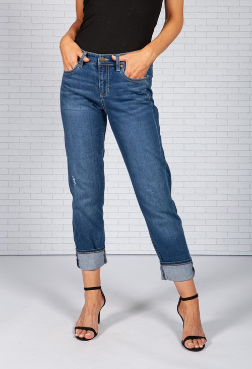Liverpool Mid Wash Mom Jeans *Recommend 1 Size Down*