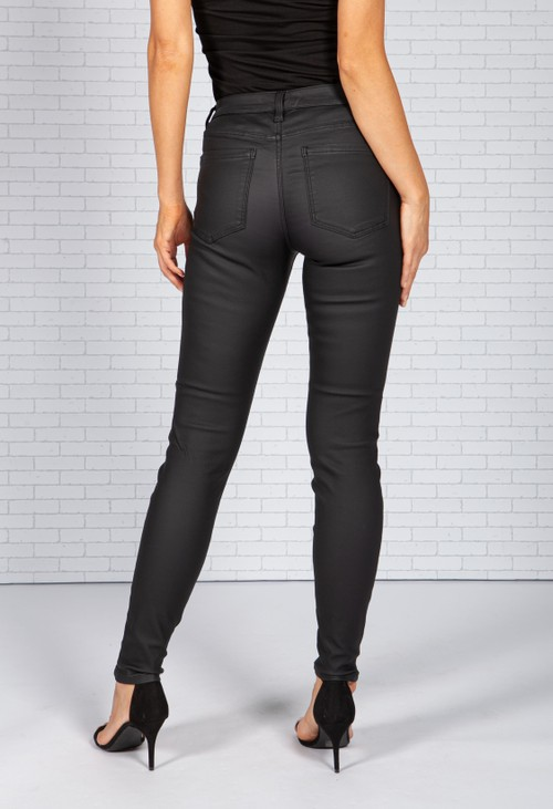 Liverpool Abby Black Wax Coated Jeans *Recommend 1 Size Down*