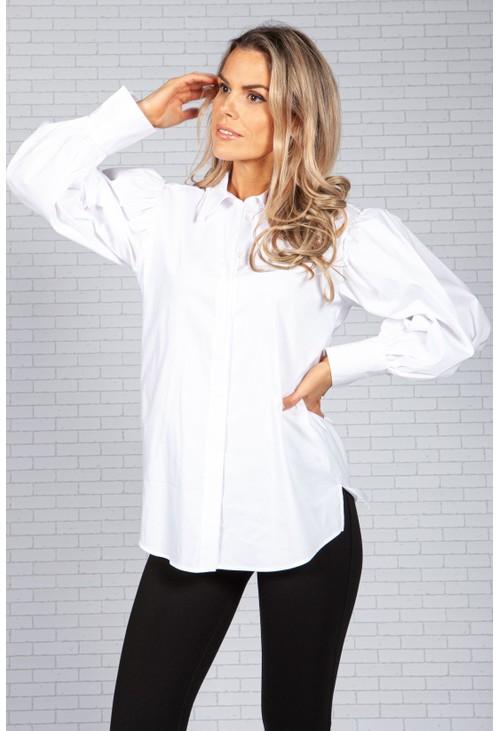 ERFO Puffed Sleeve White Shirt