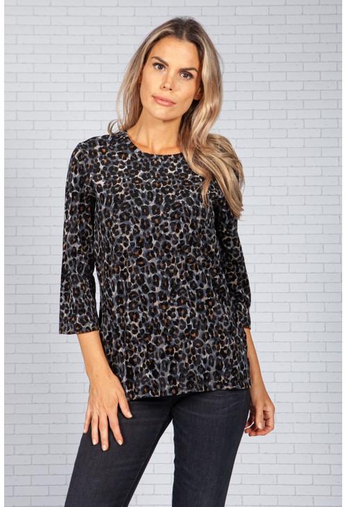 Bicalla Velvet Touch Leopard Print Top