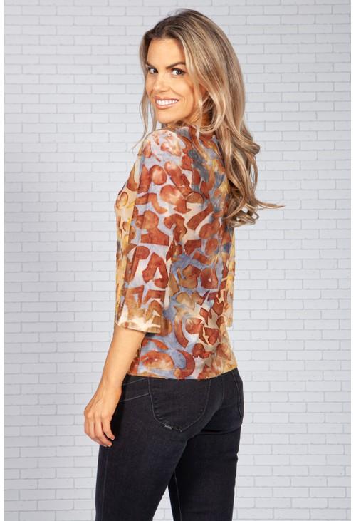 Bicalla Tie Dye Textured Design Top