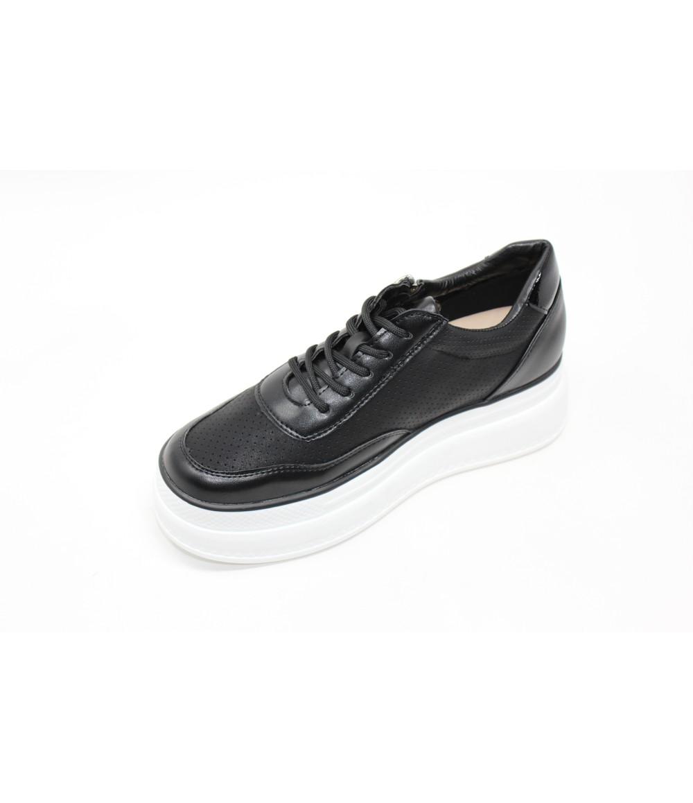 Shoe Lounge Black double sole trainer