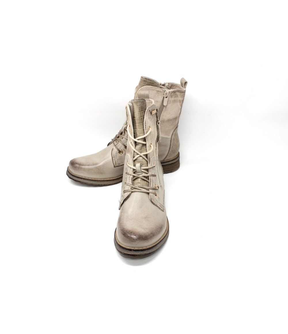 Shoe Lounge Beige Laced Ankle Boot