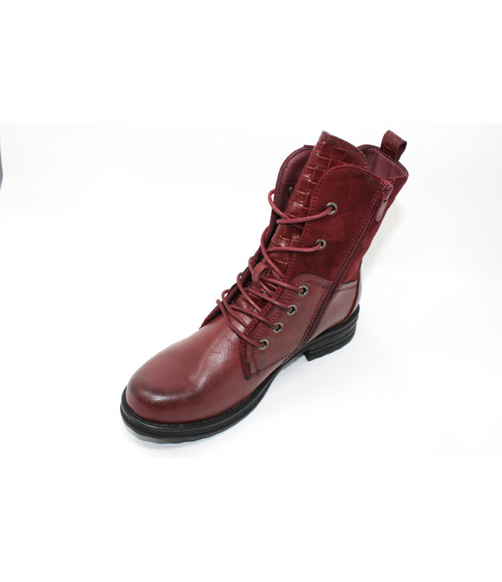 Shoe Lounge Wine Laced Ankle Boot