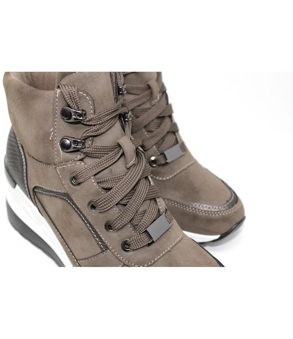 Shoe Lounge Khaki Hiking Look Ankle Boot