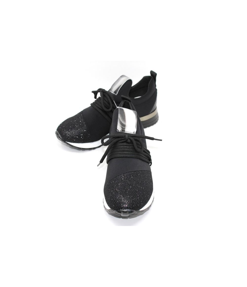 Shoe Lounge Black slip on trainer