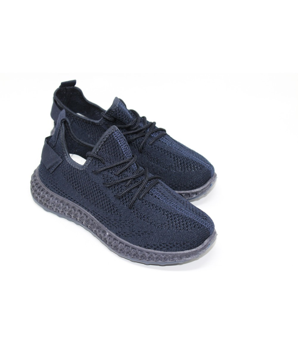 Shoe Lounge Navy Pull-on elasticated Trainer