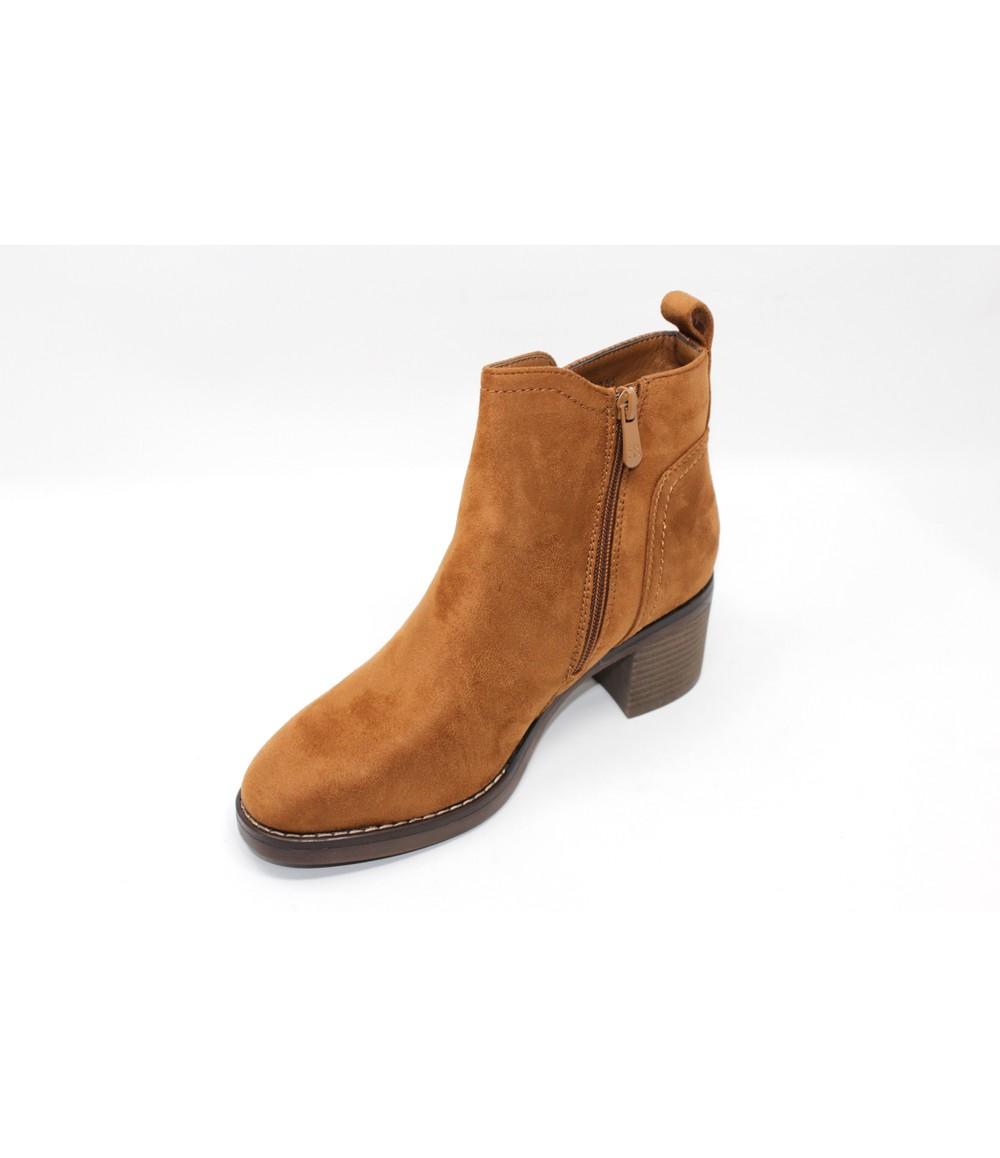 Shoe Lounge Camel Block-Heel Ankle Boot