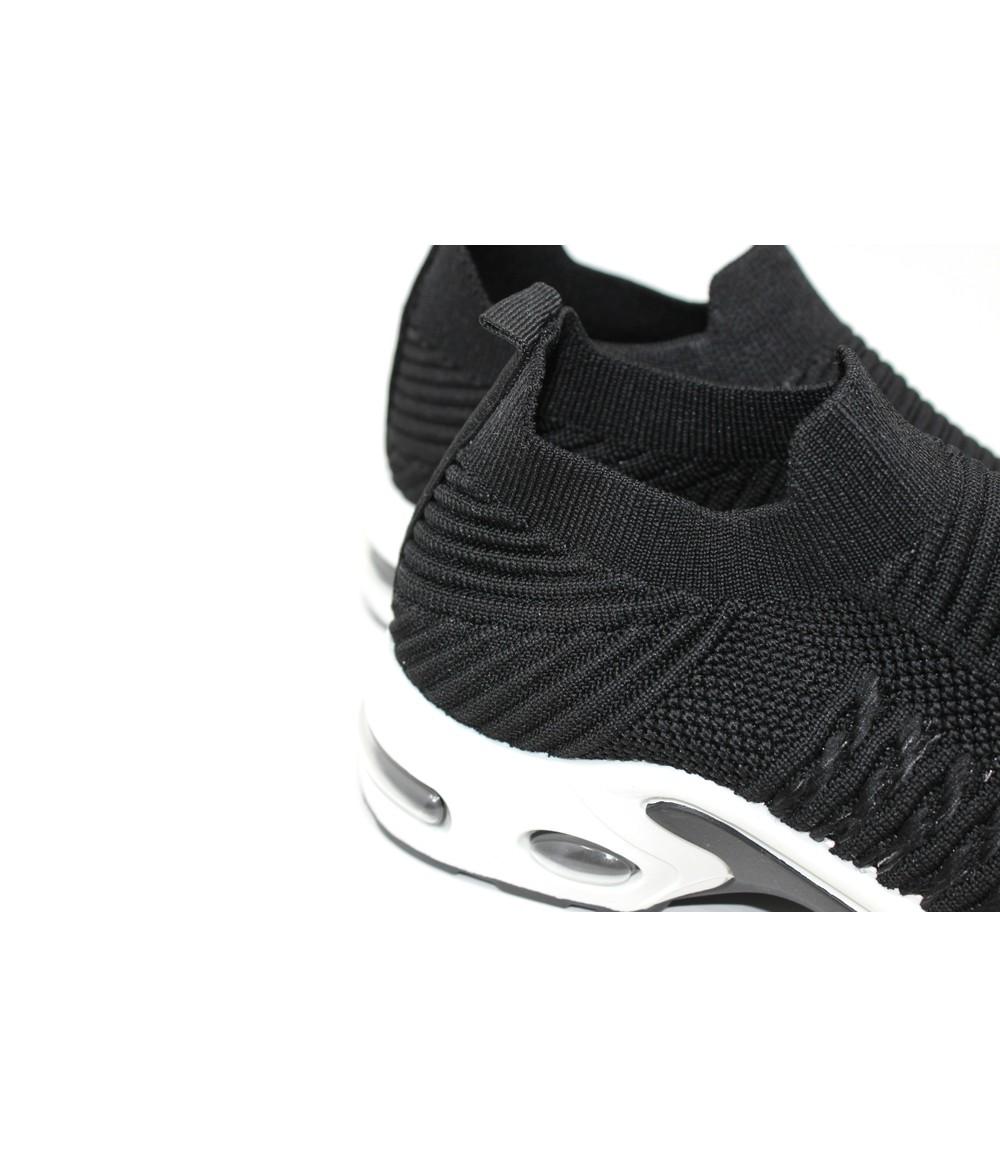 Shoe Lounge Black Pull-on Elasticated Trainer