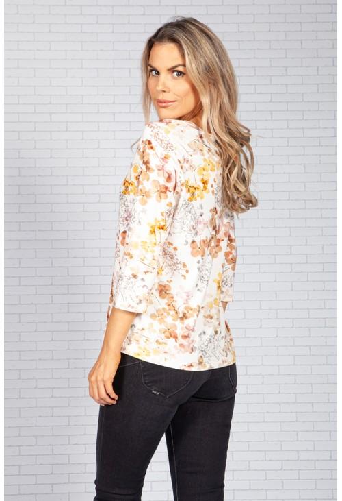 Bicalla Autumn Blossom Print Top