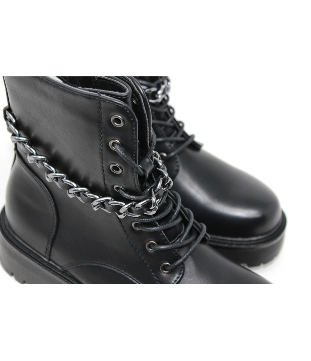 Black Rugged Ankle Boot