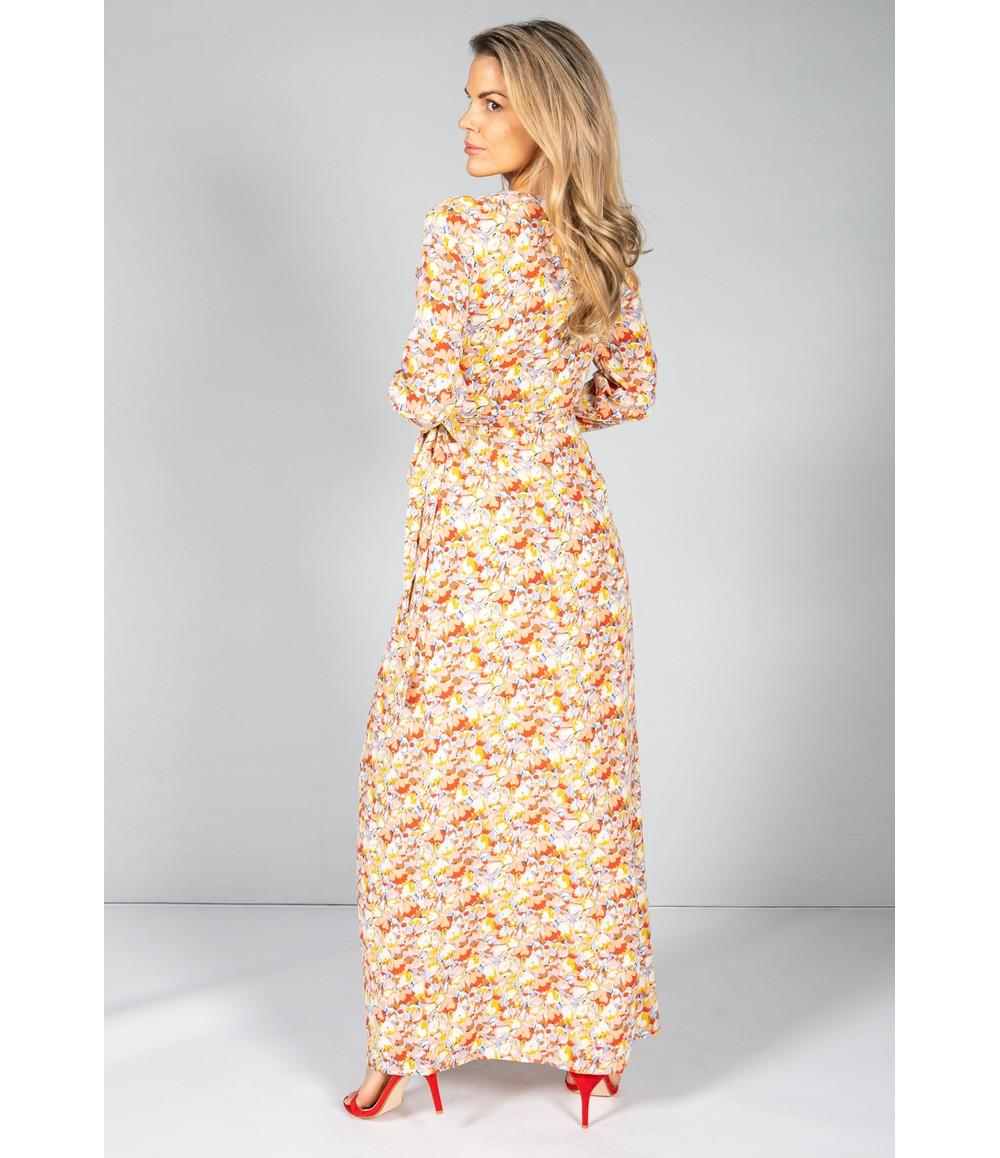 Little Mistress Blossom Maxi Wrap Dress