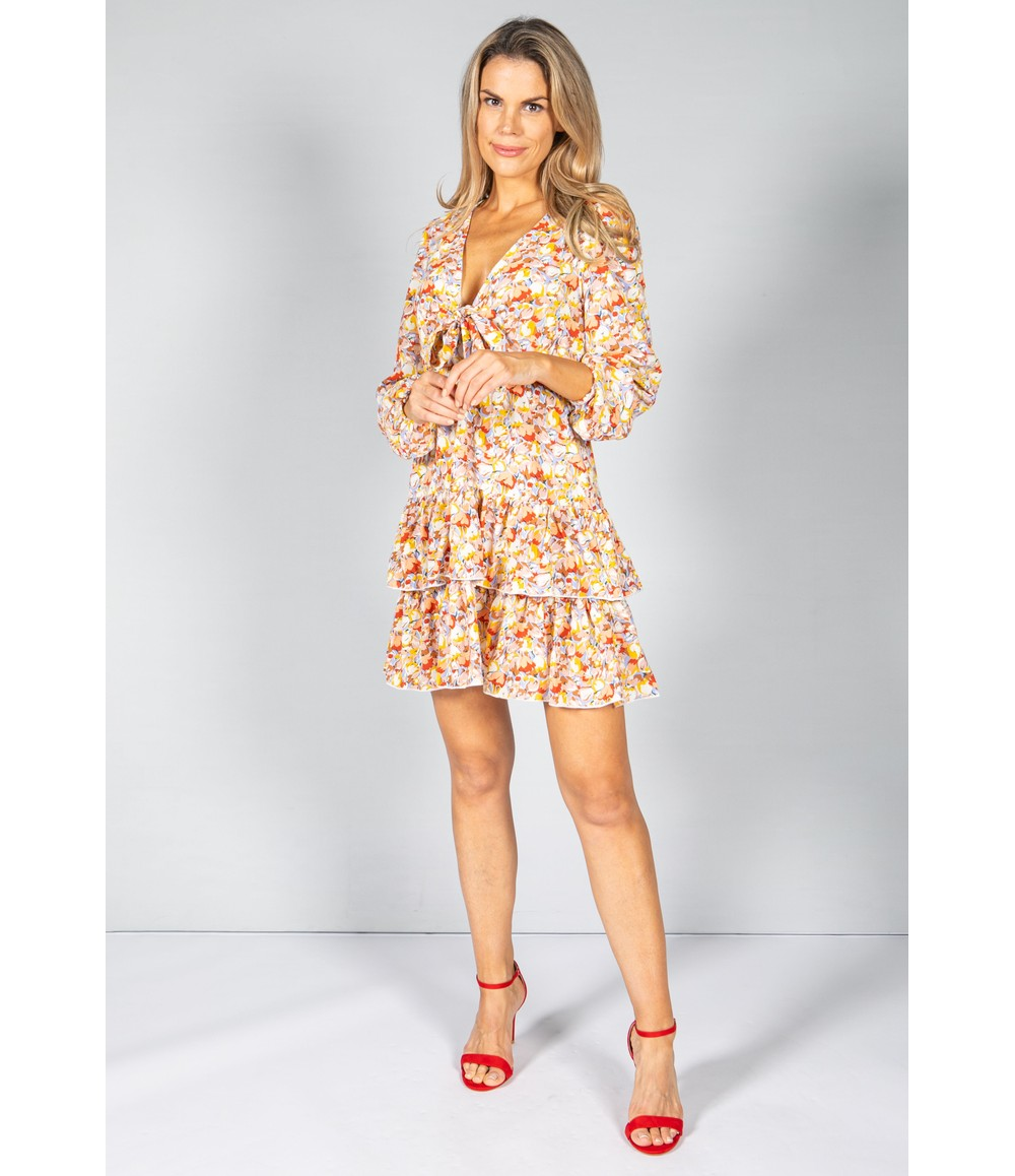 Little Mistress Blossom Mini Ruffle Dress