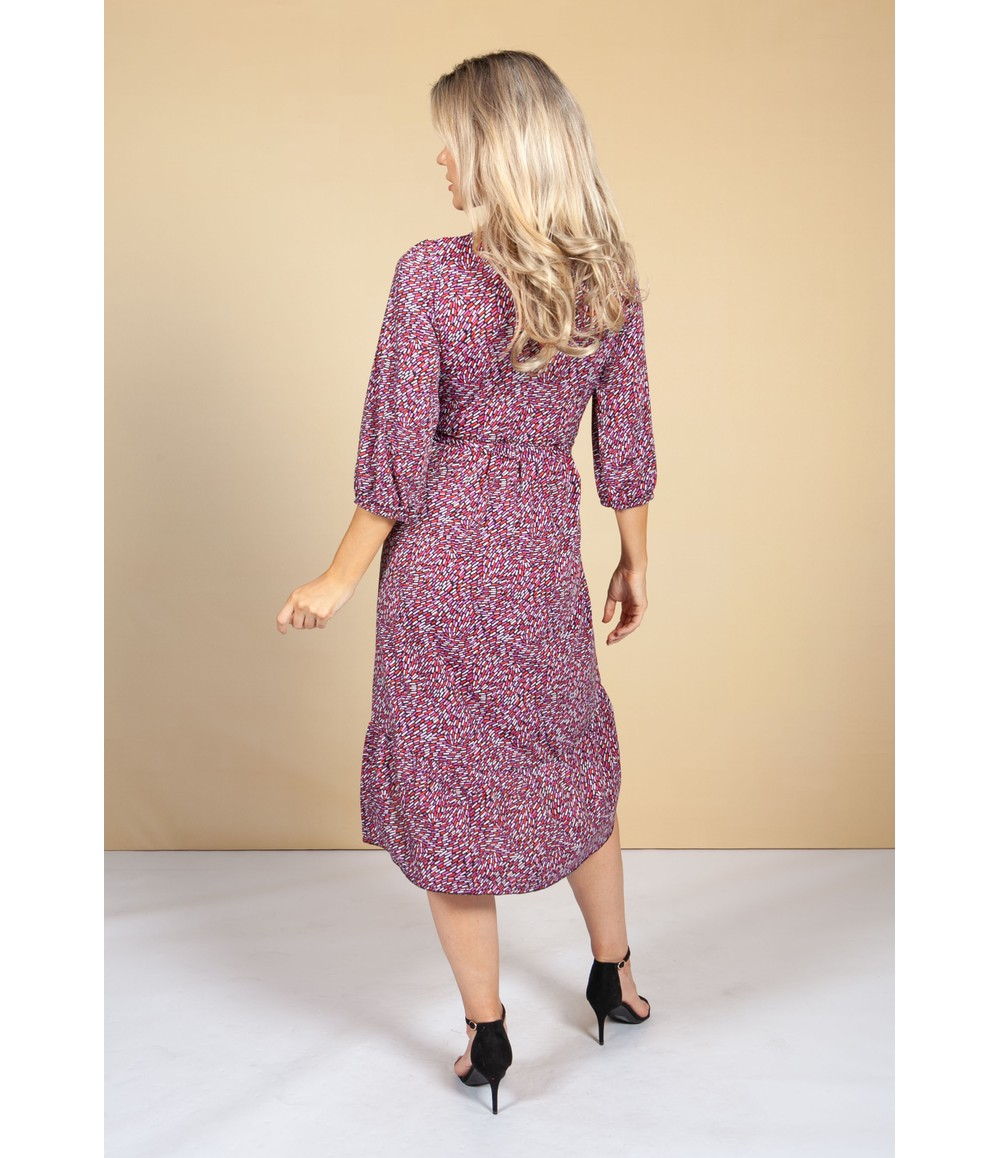 Zapara Geometric Confetti Print Dress